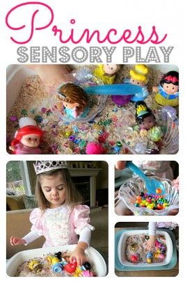 princess sensory tub activity