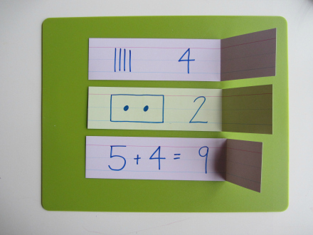 quick math falsh cards for kindergaten