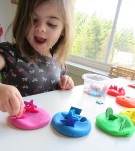 rainbow playdough