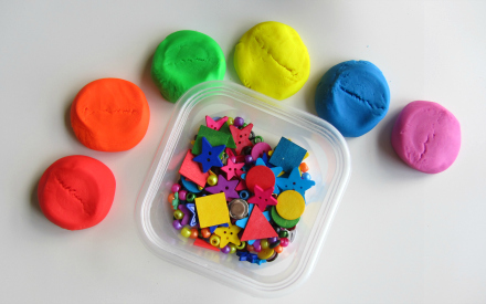 rainbow playdough color matching and sorting for toddlers