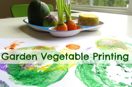 Painting with veggies