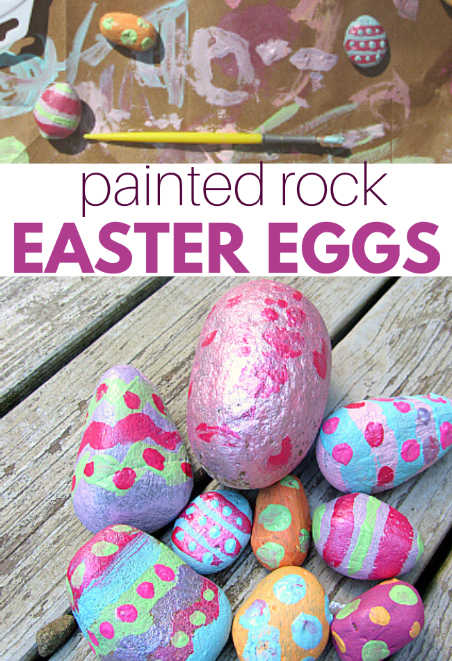 Painted Rock Easter Eggs No Time For Flash Cards