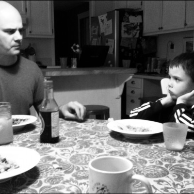 Talking about serious stuff is easy over a family meal.