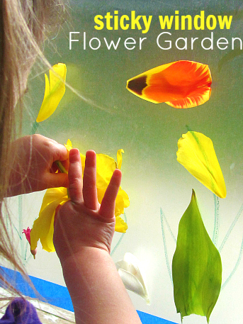 Sticky Window Flower Garden for Toddlers no time for flash cards