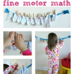 Hanging Out The Wash { Math & Fine Motor Skills}