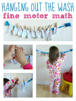 Hanging Out The Wash – Math Activity For Preschool