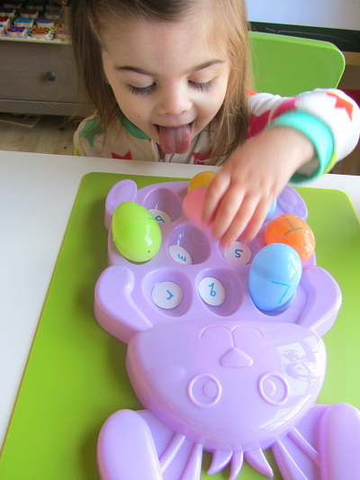 easter egg letter match alphabet activity