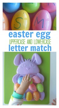 easter egg  letter match alphabet activity for preschool title