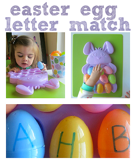 easter egg letter recognition activity
