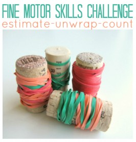 Fine Motor Skills Challenge ( and some math)