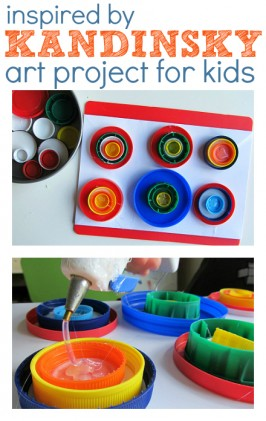 Kandinsky Circles {Fine Art Inspired Kid Art}