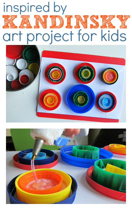 kandinsky inspired recycled art project for kids
