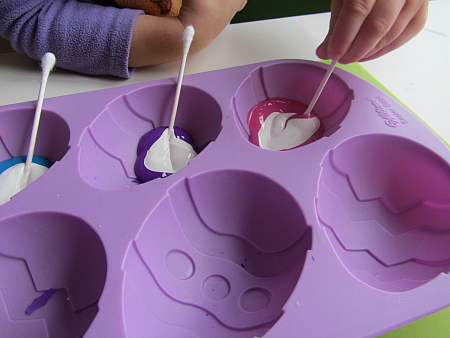q-tip easter egg painting craft for kids