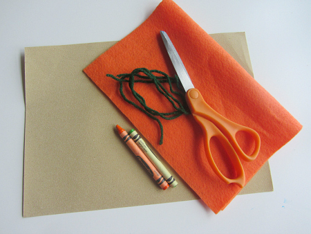 sandpaper and felt carrots67