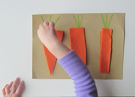 sandpaper and felt puzzles for easter