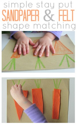 Sandpaper & Felt Shape Matching