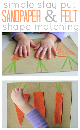 sandpaper and felt texture puzzle