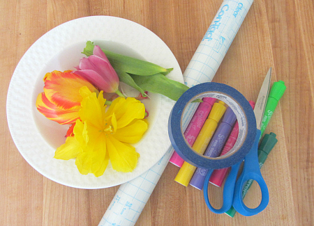 sticky window flower garden for toddlers 2