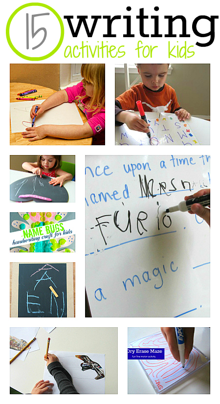 15 writing activities for kids