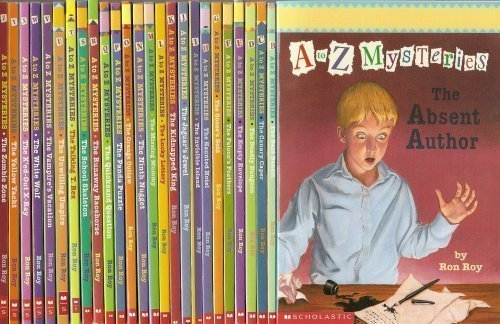 a to z mysteries by ron roy no time for flash cards