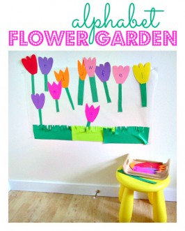 Alphabet Activity – Flower Garden