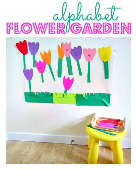 Alphabet Activity - Flower Garden - No Time For Flash Cards