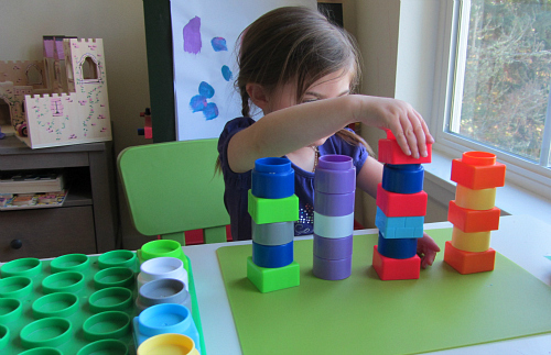 block tower patterning for preschool
