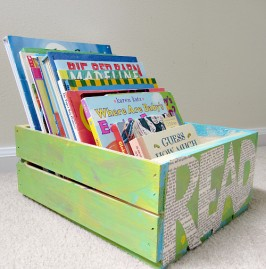 How to make a book crate for kids
