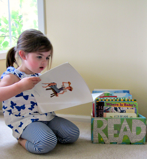 book crate for kids