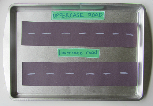 car and truck alphabet activity