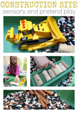 Construction Site Sensory Play & Books