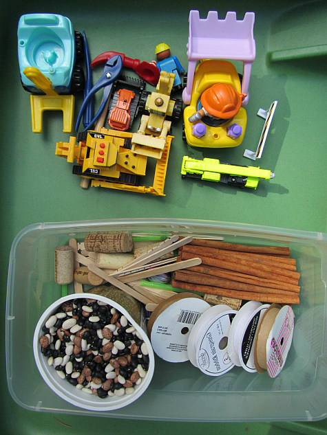 construction site sensory play