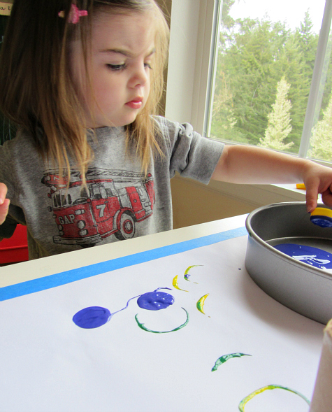 earth day painting with recycled objects