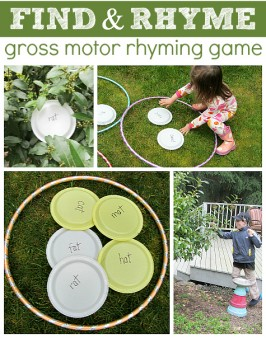 Find & Rhyme – Gross Motor Rhyming Game