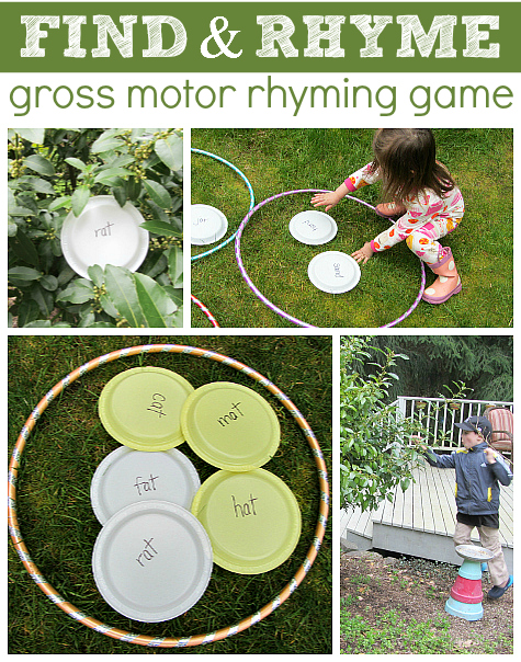 find and rhyme game for reading