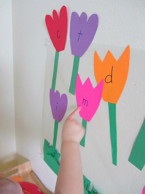 letter flower alphabet