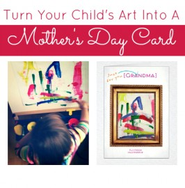 Turn Art Into A Mother's Day Card with Cardstore.com