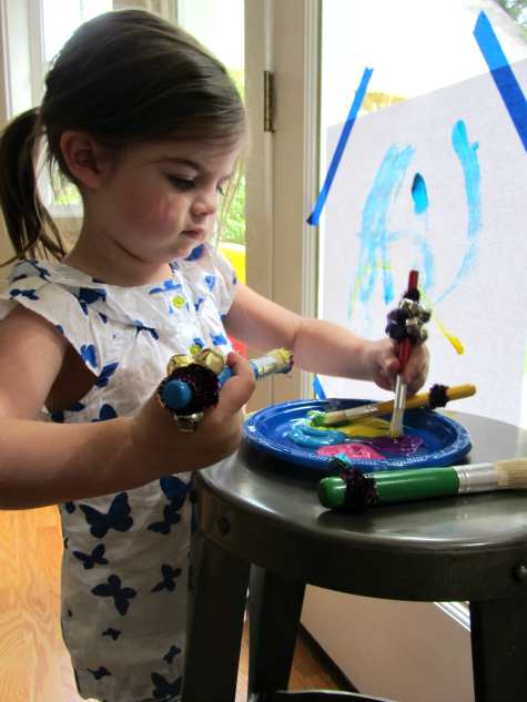 painting with jingle bells