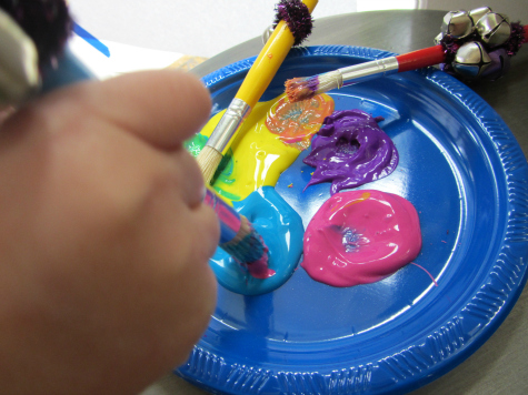 painting with sound 5 senses for preschool
