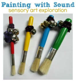painting with sound preschool art idea
