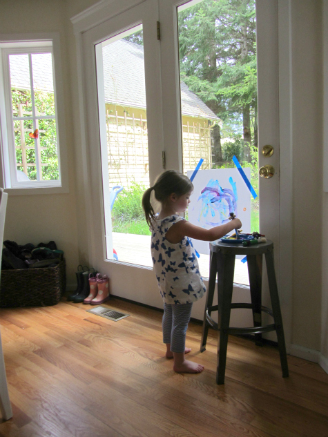 painting with sound toddler art