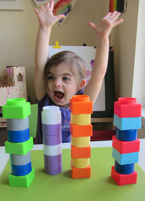 pattern block towers 2