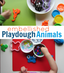playdough animals easy kid activity