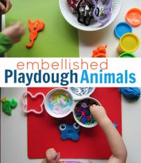 playdough animals easy kid activity