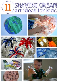 shaving cream art ideas for kids