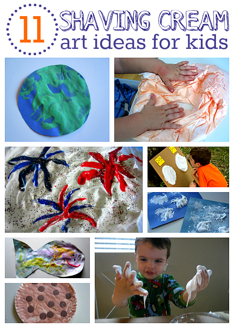 shaving cream art project ideas for kids