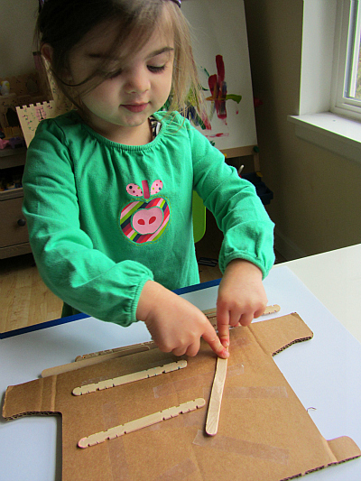 wood cut printing for toddlers and kids