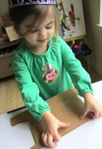 woodcut art project for toddlers