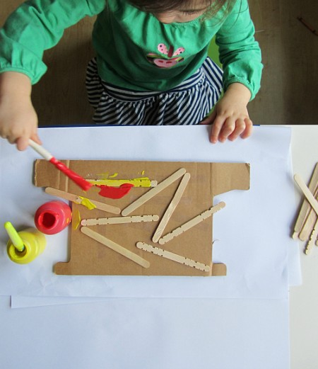 woodcut painting for toddlers