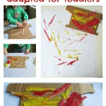 Woodcut Printing { adapted for toddlers}